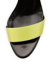 Pierre Hardy - Blue Neon Denim & Leather Wedge Sandal - Lyst