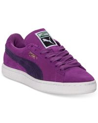 PUMA - Purple Women'S Suede Classic Casual Sneakers From Finish Line - Lyst