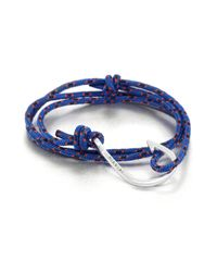 Miansai | Blue Hook Rope Wrap Bracelet | Lyst