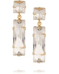 Kenneth Jay Lane - Metallic Gold-plated Crystal Earrings - Lyst