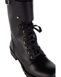HUGO - Black Leather Boots: 'sorrel' - Lyst
