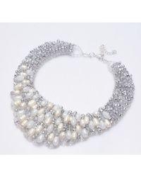 Nakamol - Metallic Isadora Necklace-white Pearl - Lyst