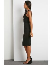 Forever 21 | Black Crisscross Strappy Dress | Lyst