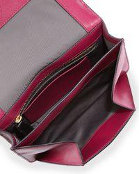 Time's Arrow - Pink Calfskin Chevron-detail Belt Bag - Lyst