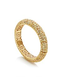 Nina Runsdorf - Metallic One Of A Kind 18k Yellow Gold Diamond Bangle - Lyst