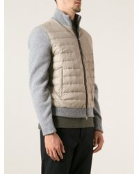 Corneliani - Gray Padded Bomber Jacket for Men - Lyst