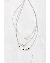 Urban Outfitters | Metallic Easy Picnic Delicate Necklace | Lyst