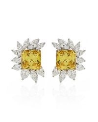 Carat* | Canary Yellow Floral Cluster Earrings | Lyst