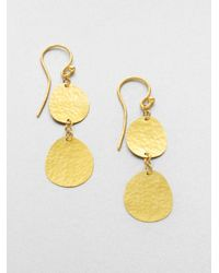 Gurhan | Metallic 24k Yellow Gold Disc Drop Earrings | Lyst