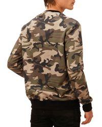 Balmain - Multicolor Camo Print Sweatshirt for Men - Lyst