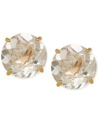 Macy's - White Topaz (2-1/10 Ct. T.w.) Stud Earrings In 14k Gold - Lyst