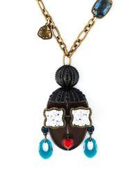 Lanvin | Metallic 'zandro Hairdo' Necklace | Lyst