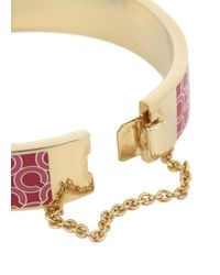 COACH | Pink Fuchsia Gold Plated Bangle | Lyst