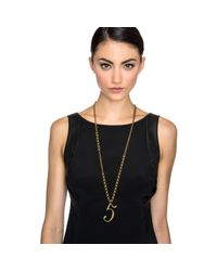 Lulu Frost | Metallic Plaza Number Necklace - Pearl Chain | Lyst
