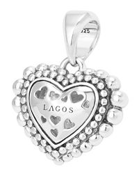 Lagos - Metallic Caviaar Beaded Diamond Heart Pendant - Lyst