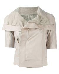 Rick Owens - Gray Short Sleeve Biker Jacket - Lyst