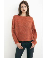 Velvet By Graham & Spencer - Orange Olena Oversized Cashmere Blend Sweater - Lyst