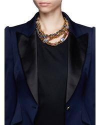 Assad Mounser | Multicolor Swarovski Crystal Chain Necklace | Lyst