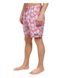 Vineyard Vines - Red Palm Tree Bungalow Shorts for Men - Lyst