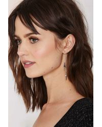 Nasty Gal | Metallic Space Oddity Lightning Bolt Earrings | Lyst