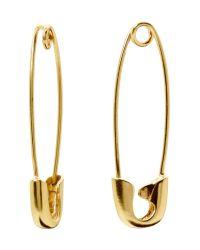 Banana Republic | Metallic Safety Pin Earring | Lyst