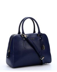 Furla - Blue Navy Leather 'Elena' Convertible Top Handle Tote - Lyst