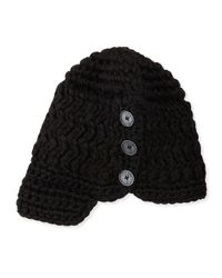 Nobis | Black Madison Toque Hat W/ Button | Lyst