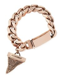 Givenchy - Pink Rose Golden Pave Crystal Shark Tooth Bracelet - Lyst