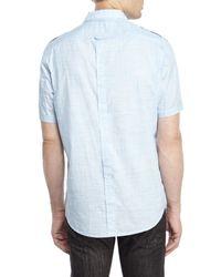 DKNY - Blue Slub Cotton Shirt for Men - Lyst