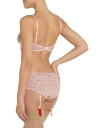L'Agent by Agent Provocateur | Pink Febe Stretch-Mesh Suspender Briefs | Lyst