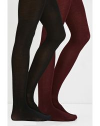 Forever 21 | Red Semi-sheer Tights Pack You've Been Added To The Waitlist | Lyst