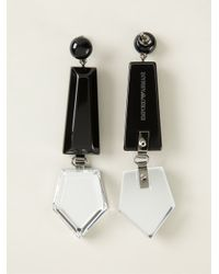 Emporio Armani | Black Geometric Earrings | Lyst