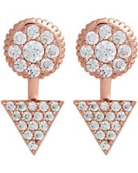 Fallon | Pink Convertible Elin Stud/drop Earrings | Lyst