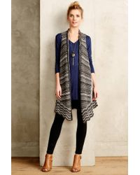 Moth - Natural Strata Knit Vest - Lyst