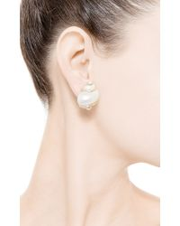Seaman Schepps - Metallic Extra Small Turbo Shell Earrings with Pearl Accents - Lyst