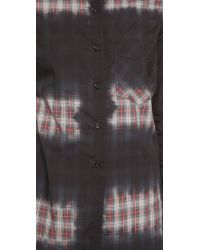 Monrow - Gray Button Down Shirt - Lyst