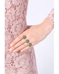 Ileana Makri - Green 18k Yellow Gold Gem Knuckle Ring with Tsavorites - Lyst