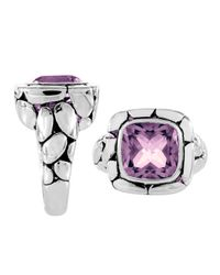 John Hardy - Purple Kali Square Amethyst Ring - Lyst