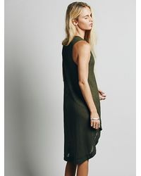 Free People - Green Washed Ashore Tank - Lyst