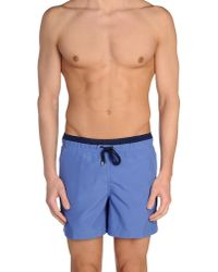Pedro Del Hierro Madrid - Blue Swimming Trunk for Men - Lyst