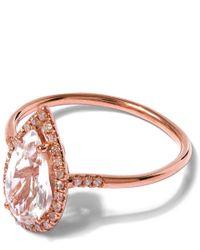 Suzanne Kalan - Pink Rose Gold White Topaz Diamond Ring - Lyst