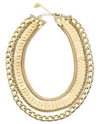 Guess | Metallic Gold-tone Multi-link Four-row Necklace | Lyst