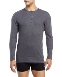 2xist | Gray 2(X)Ist Essential Long Sleeve Henley for Men | Lyst