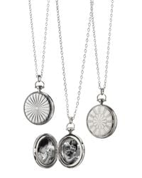 Monica Rich Kosann | Metallic Silver Dart Board Locket Necklace | Lyst