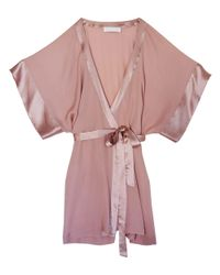 Fleur du Mal | Pink Georgette Wrap Kimono | Lyst