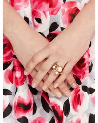 kate spade new york - Natural Bits And Baubles Statement Ring - Lyst