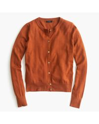 J.Crew | Orange Lightweight Wool Jackie Cardigan Sweater | Lyst