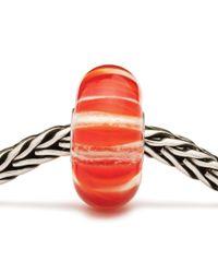 Trollbeads   Orange Stripe Glass Charm Bead   Lyst