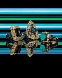 Armenta - Old World Emerald-Cut Quartz/Black Mother-Of-Pearl & Diamond Ring - Lyst