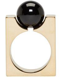 Chloé - Metallic Gold Square Darcey Ring - Lyst